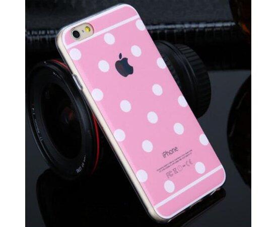 """Розовый силиконовый чехол """"Горошек"""" для iPhone 6/6S"""