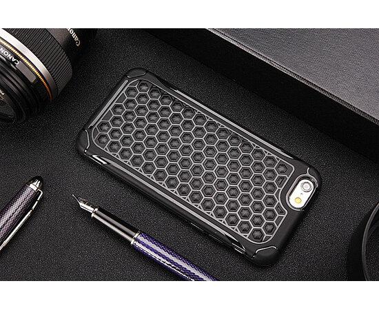 Антиударный силиконовый чехол черный для iPhone 6/6S