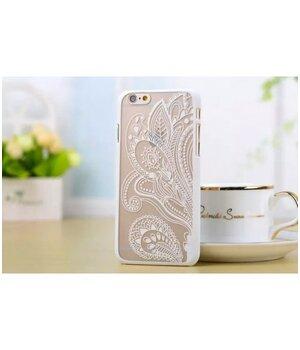 """Чехол """"Узор"""" пластиковый для iPhone 6 Plus/6S Plus белый"""