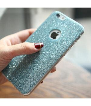 Силиконовый бирюзовый чехол с блестками для iPhone 6 Plus/6S Plus