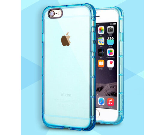 Бирюзовый антиударный силиконовый чехол для iPhone 6/6S