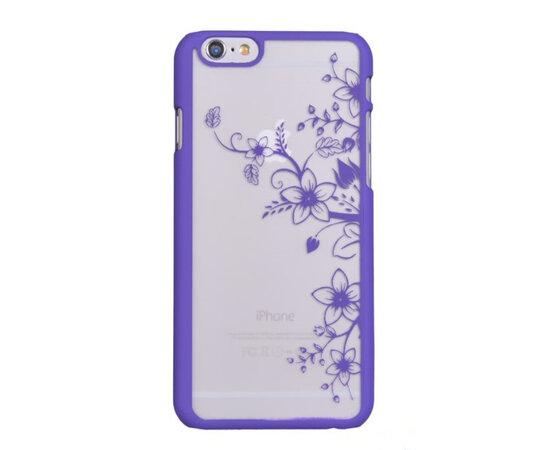 """Чехол """"Цветной узор"""" пластиковый для iPhone 6/6S фиолетовый"""