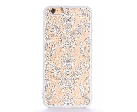 """Чехол """"Винтажный узор"""" пластиковый для iPhone 6/6S белый"""
