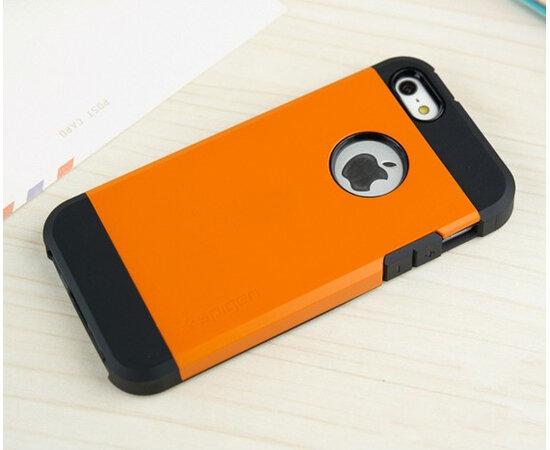 """Антиударный чехол """"Spigen"""" оранжевый для iPhone 5/5S/SE"""