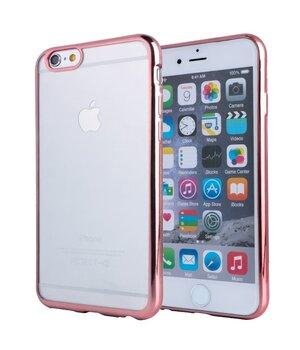 Силиконовый Rose Gold чехол прозрачный для iPhone 6 Plus/6S Plus