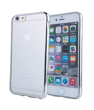 Силиконовый серебряный чехол прозрачный для iPhone 6 Plus/6S Plus