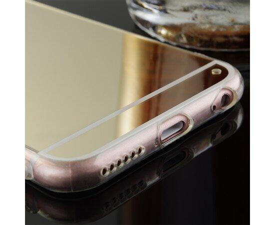 Золотой силиконовый чехол с зеркальным эффектом для iPhone 6/6S