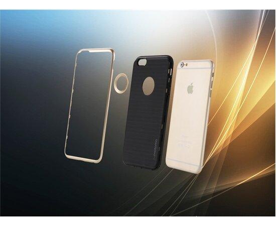 """Антиударный чехол """"Motomo"""" серебряный для iPhone 6 Plus/6S Plus"""