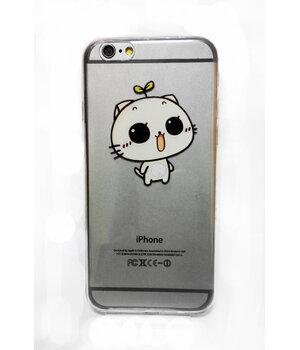 """Чехол """"Котик"""" силиконовый для iPhone 6/6S с заглушками"""