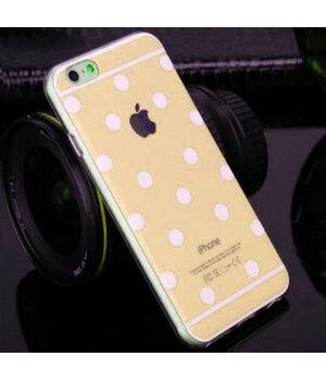 """Золотой силиконовый чехол """"Горошек"""" для iPhone 6/6S"""
