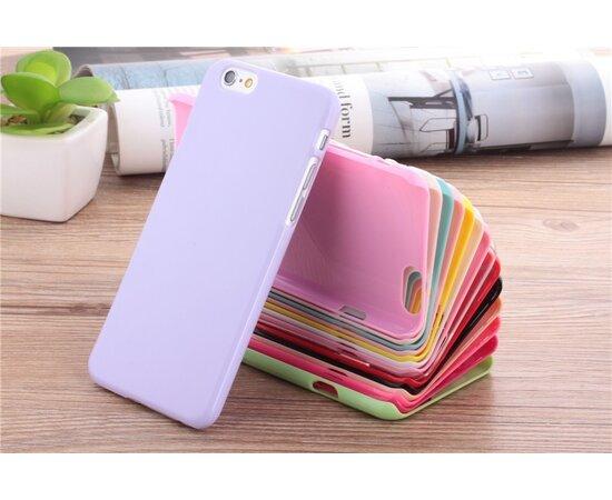 Ультратонкий глянцевый бледно-розовый пластиковый чехол для iPhone 6/6S