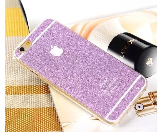 Фиолетовый силиконовый чехол с блестками для iPhone 6/6S