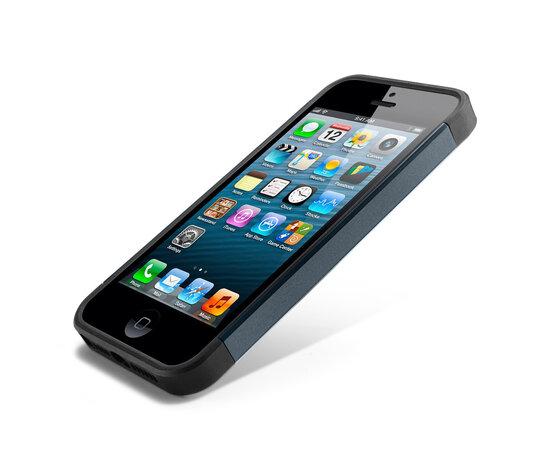 """Антиударный чехол """"Spigen"""" Slim Armor графитовый для iPhone 5/5S/SE"""