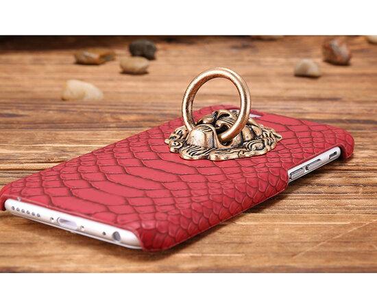 """Красный пластиковый чехол """"Лев"""" для iPhone 6/6S"""
