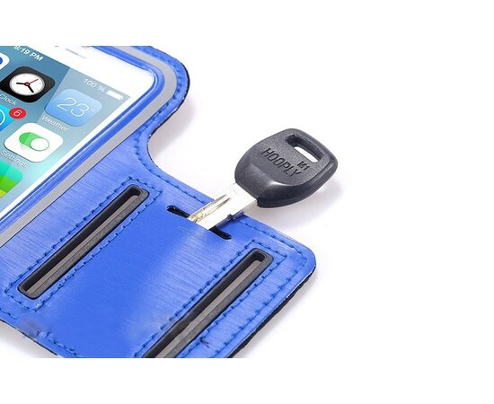 Спортивный синий чехол на руку iArmband для iPhone 6 Plus/6S Plus/7 Plus