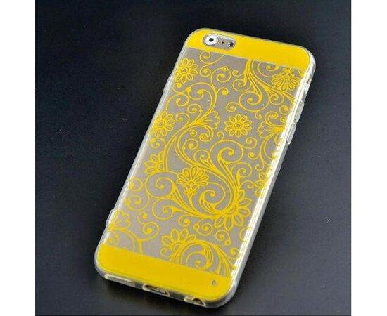 """Чехол """"Узор"""" силиконовый для iPhone 6/6S желтый"""