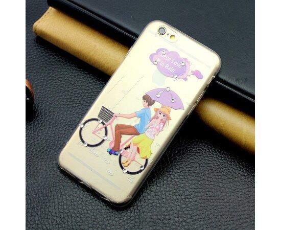 """Чехол со стразами """"Романтика"""" силиконовый для iPhone 6 Plus/6S Plus"""