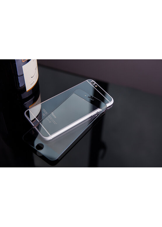Закаленное стекло 3D с цвет.рамкой (fullscreen) для Samsung Galaxy S8 DF sColor-18 (silver)