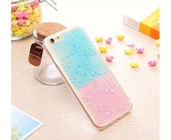 Антиударный силиконовый чехол сине-розовый для iPhone 6/6S
