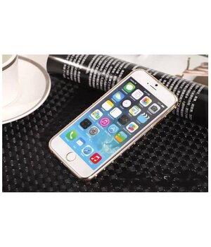 Алюминиевый ультратонкий золотой бампер со стразами для iPhone 6/6S