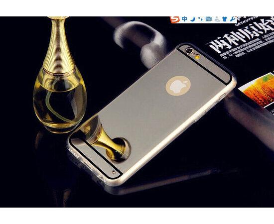 Серебряный силиконовый чехол с зеркальным эффектом для iPhone 6/6S
