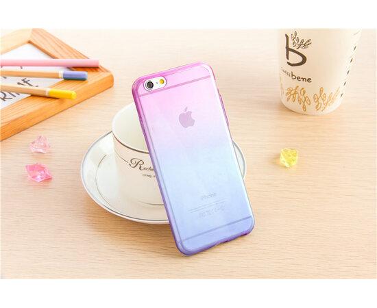 """Чехол """"Градиент"""" силиконовый для iPhone 6/6S фиолетово-синий"""