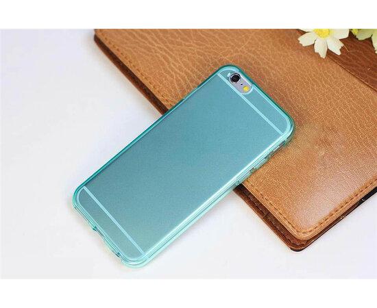 Синий силиконовый матовый чехол для iPhone 6/6S