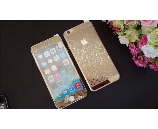 Переднее+заднее 3D золотое стекло для iPhone 6/6S