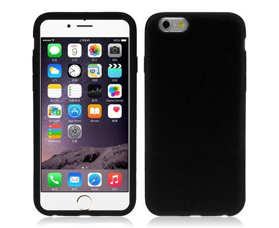 """Силиконовый черный чехол """"soft touch"""" для iPhone 6/6S"""