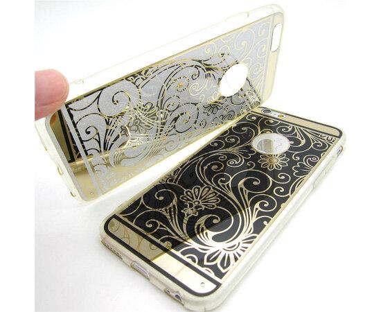 """Чехол """"Золотой узор"""" силиконовый для iPhone 5/5S/SE черный"""