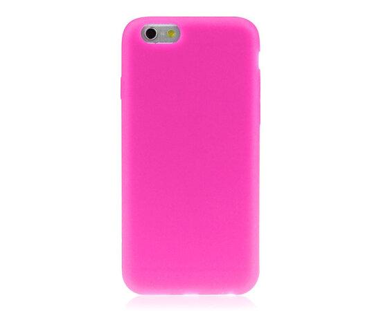 """Силиконовый ярко-розовый чехол """"soft touch"""" для iPhone 6/6S"""