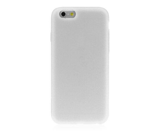 """Силиконовый белый чехол """"soft touch"""" для iPhone 6/6S"""