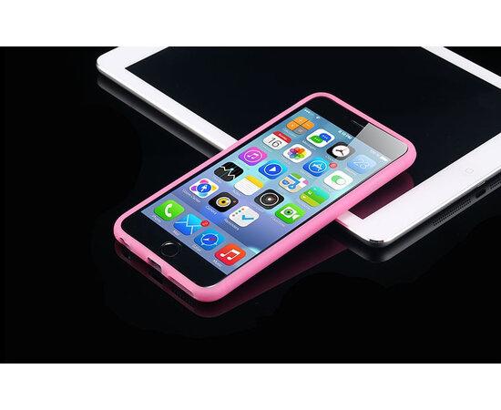 """Силиконовый розовый чехол """"soft touch""""  для iPhone 6/6S"""