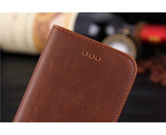 Коричневый кожаный чехол-кошелек для iPhone 6/6S