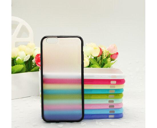Чехол-бампер с силиконовыми краями черный для iPhone 6/6S