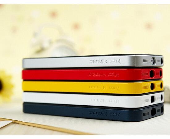 """Антиударный чехол Spigen """"Neo Hybrid"""" серебряный для iPhone 5/5S/SE"""