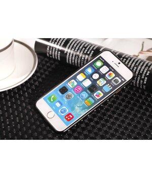 Алюминиевый ультратонкий черный бампер со стразами для iPhone 6/6S