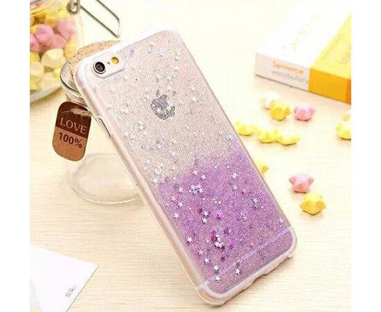 Антиударный силиконовый чехол прозрачно-фиолетовый для iPhone 6/6S