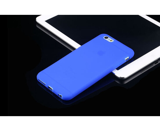 """Силиконовый синий чехол """"soft touch"""" для iPhone 6/6S"""