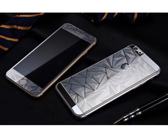 Переднее+заднее 3D серебряное стекло для iPhone 6/6S