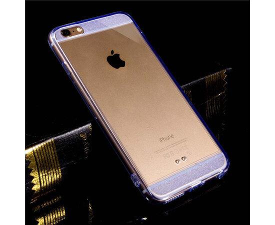 Синий силиконовый чехол прозрачный для iPhone 6/6S