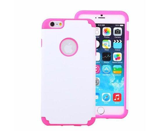 "Антиударный чехол ""soft touch"" бело-розовый для iPhone 6/6S"