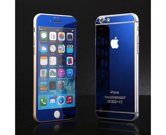 Переднее+заднее синее стекло для iPhone 6 Plus/6S Plus