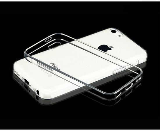 Силиконовый прозрачный чехол для iPhone 5C