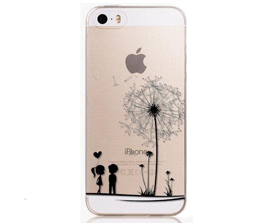 """Чехол """"Одуванчик"""" силиконовый для iPhone 5C прозрачный"""