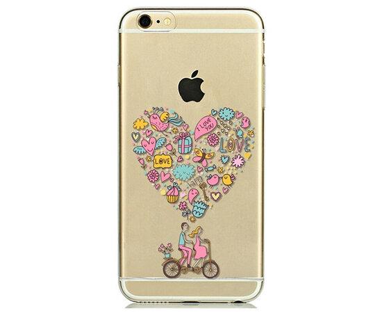 """Чехол """"Одно сердце на двоих"""" силиконовый для iPhone 5C"""