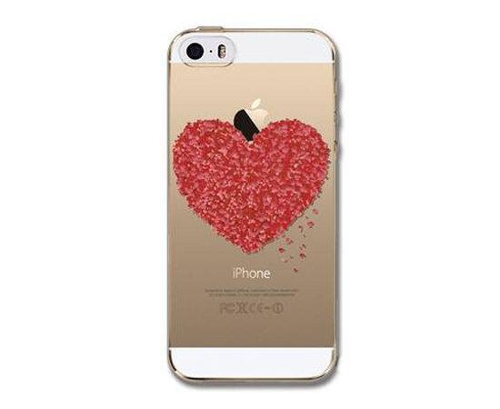 """Чехол """"Сердце из цветов"""" силиконовый для iPhone 5C"""