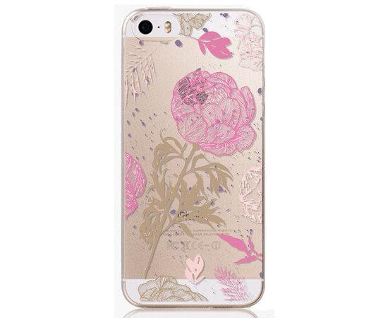 """Чехол """"Роза"""" силиконовый для iPhone 5C"""