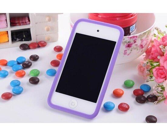 """Резиновый 3D чехол """"M&M"""" фиолетовый для iPhone 4/4S"""