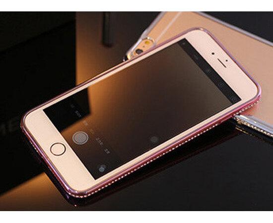 Чехол со стразами Rose силиконовый для iPhone 6/6S
